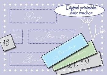 Colourful calendar planner