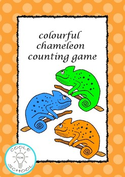 Colourful chameleons flashcards counting game colour