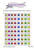 Colourful piano notes