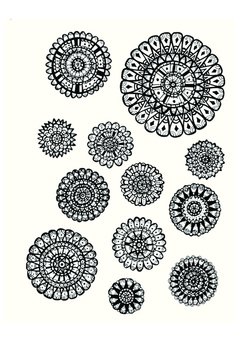 Colouring In Flower Template