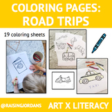 Colouring Pages: Road Trips