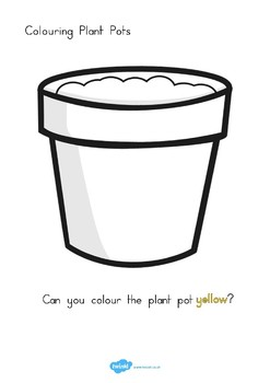 Colouring Plant Pots by Twinkl Printable Resources   TpT