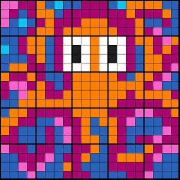 Colouring by Algebra - Linear Systems Octopus (3 versions)