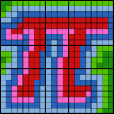 Colouring by Circle Area & Perimeter, Pi (25 Worksheet Mosaic)