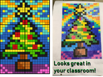 Colouring by Exact Trig Values - Degrees, Christmas Tree (6 Sheet Mosaic)