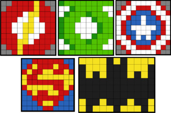 Colouring by Exact Trig Values - Radians (5 Solo Mosaics, 2 versions of each)