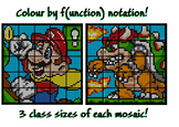 Colouring by Function Notation, Mario & Bowser (36, 25, an