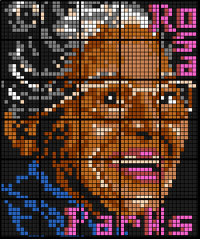 Colouring by Integers (Add & Subtract), Rosa Parks 30-Sheet Collaborative Mosaic