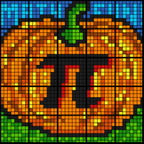 Colouring by Linear Equations, Pumpkin Pi (4 Version Bundle) 25 Sheet Mosaic