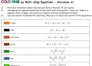 Colouring by Linear Equations, Pumpkin Pi (4 Version Bundle) 25 Sheet Mosaic
