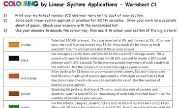 100+ [ Applications Of Linear Systems Worksheet ]   One Step ...