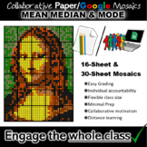 Colouring by Mean Median and Mode, Mona Lisa Mosaic (Paper