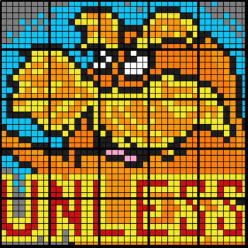 Colouring by One Step Equations (Positive Integers), The Lorax (25 Sheet Mosaic)