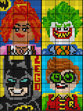 Colouring by Percent Problems, Lego Batman Bundle (Four 12