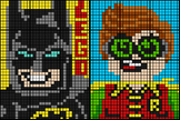 Colouring by Percent Problems, Lego Batman & Robin (Two 12-Sheet Mosaics)