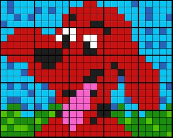 """Colouring by Percentage - Part, Whole, Percent - """"Red Dog"""" (25 worksheets)"""
