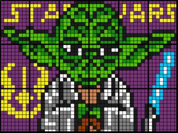 Colouring by Percentage - Part, Whole, Percent - Yoda (18 and 28 Sheets Mosaics)
