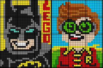 Colouring by Ratio Applications, Lego Batman & Robin (Two