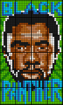 Colouring by Similar Triangles, Black Panther (Multiple Mosaic Sizes)