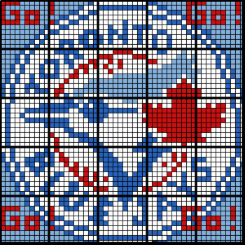 Colouring by Simplifying Expressions, Toronto Blue Jays Logo (25 Sheet Mosaic)