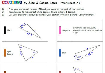 Colouring by Sine & Cosine Laws, Rosa Parks (30-Sheet Collaborative Math Mosaic)