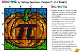 Colouring by Equation - Pumpkin Pi  (16 worksheet version)