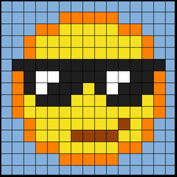 Colouring by Trig Ratios, Cool Emoji (Solo Math Mosaic)