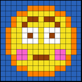 Colouring by Trig Ratios, Embarrassed Emoji (Solo Math Mosaic)