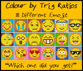 Colouring by Trig Ratios, Emojis (9 Solo Worksheets)
