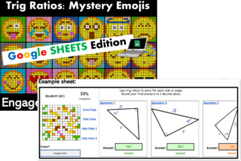 Colouring by Trig Ratios, Emojis (18 Solo Worksheets!)