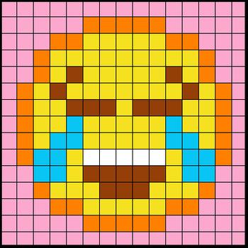 Colouring by Trig Ratios, Happy Tears Emoji (Solo Math Mosaic)