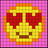 Colouring by Trig Ratios, In Love Emoji (Solo Math Mosaic)
