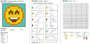 Colouring by Trig Ratios, LOL Emoji (Solo Math Mosaic)