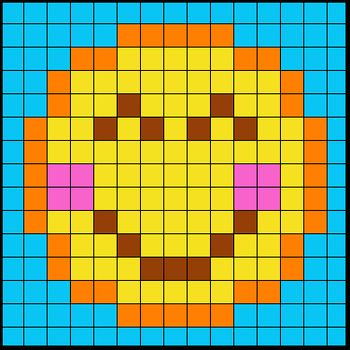 Colouring by Trig Ratios, Proud Emoji (Solo Math Mosaic)