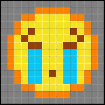 Colouring by Trig Ratios, Sad Tears Emoji (Solo Math Mosaic)