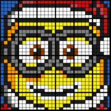 Colouring by Trig Ratios _ Minion Santa (12 & 36-Worksheet Mosaics)