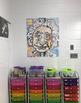 Colouring by Quadratics - Einstein (25 Worksheet Collaborative Math Mosaic)