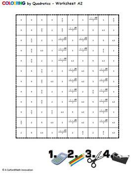 colouring by quadratics einstein 25 worksheet collaborative math mosaic. Black Bedroom Furniture Sets. Home Design Ideas