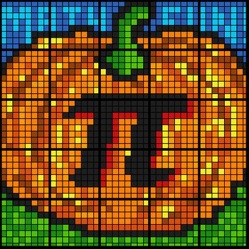 Colouring by Trigonometry, Pumpkin Pi (3 Version Bundle) 25-Sheet Math Mosaic