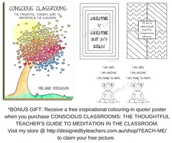 Colouring-in poster for the classroom: Relaxation and meditation