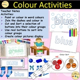 Colour Activities/Tasks and Sorting into Colour Groups, Cut/Paste