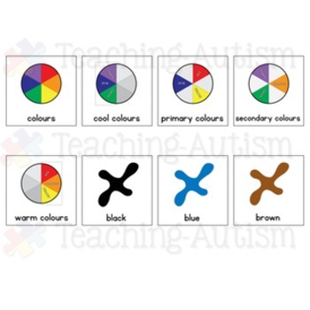 Colours / Colors Symbol Communication Cards - Autism