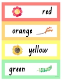 Colours Displays and Feelings / Emotions Displays - Rainbow with Watercolour