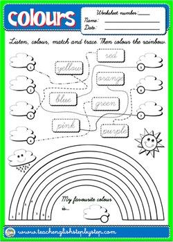 Colours - ESL Worksheet for 1st Graders