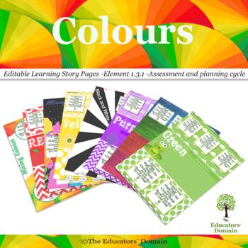 EYLF Colours Editable Pack