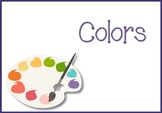 Colours Flash Cards - English (6 per page)