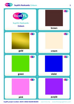 Colours Flashcards in English