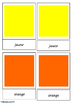 Colours - French 3 part Cards