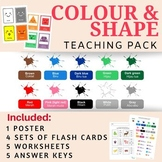 Colours & Shapes in Indonesian Language (Handout & Worksheets)