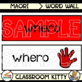 Colours Word Wall : Maori